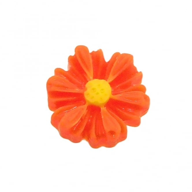 9mm Sunflower Resin Cabochon - Orange - 10pk