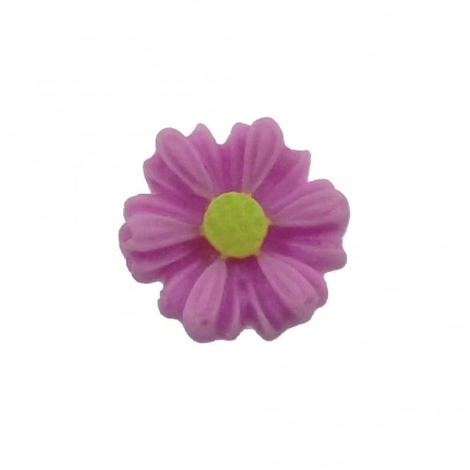 9mm Sunflower Resin Cabochon - Purple - 10pk