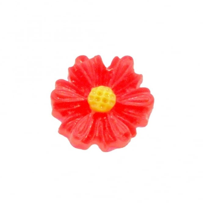 9mm Sunflower Resin Cabochon - Red - 10pk