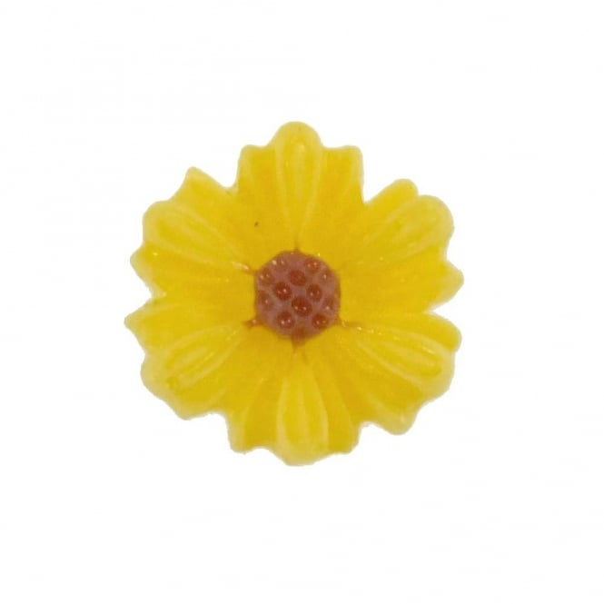 9mm Sunflower Resin Cabochon - Yellow - 10pk