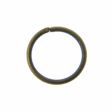 9mm Thin Jump Rings (0.8mm) - Antique Brass Plated - 100pk
