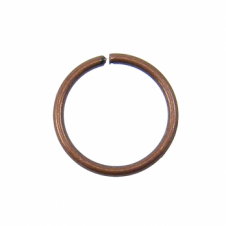 9mm Thin Jump Rings (0.8mm) - Antique Copper Plated - 100pk