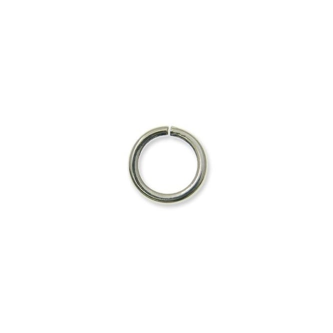 9mm Thin Jump Rings (0.8mm) - Silver Plated - 100pk