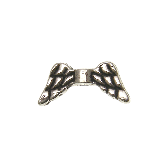 9x20mm Wing Bead Spacer - Antique Silver Plated - 5pk