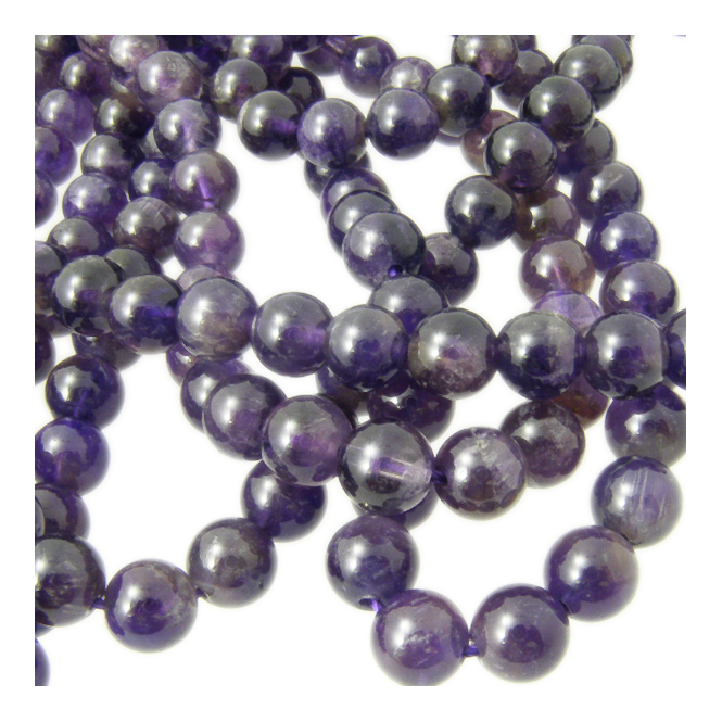 "Amethyst Round Gemstone Beads 4mm - 16"" Strand"