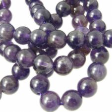 Amethyst Round Gemstone Beads 6mm - 10pcs