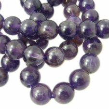 Amethyst Round Gemstone Beads 8mm - 10pcs