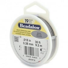 Beadalon Beading Wire 19 Strand 0.38mm (.015in) - Bright - 9.2m (30ft)