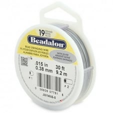 Beadalon Beading Wire 19 Strand 0.38mm (.015in) - Satin Silver - 9.2m (30ft)