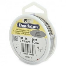 Beadalon Beading Wire 19 Strand 0.53mm (.021in) - Bright - 9.2m (30ft)