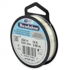 Beadalon Beading Wire 49 Strand 0.61mm (.024in) - Silver Plated - 3.1m (10ft)