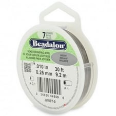 Beadalon Beading Wire 7 Strand 0.25mm (.010in) - Bright - 9.2m (30ft)
