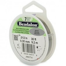 Beadalon Beading Wire 7 Strand 0.30mm (.012in) - Bright - 9.2m (30ft)