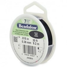 Beadalon Beading Wire 7 Strand 0.38mm (.015in) - Black - 9.2m (30ft)