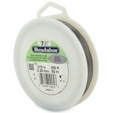 Beadalon Beading Wire 7 Strand 0.38mm (.015in) - Bright - 305m (1000ft)