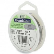 Beadalon Beading Wire 7 Strand 0.38mm (.015in) - Bright - 31m (100ft)