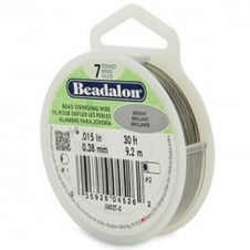 Beadalon Beading Wire 7 Strand 0.38mm (.015in) - Bright - 9.2m (30ft)