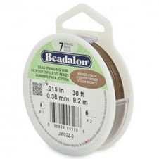 Beadalon Beading Wire 7 Strand 0.38mm (.015in) - Bronze - 9.2m (30ft)