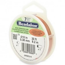 Beadalon Beading Wire 7 Strand 0.38mm (.015in) - Copper Colour - 9.2m (30ft)