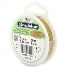 Beadalon Beading Wire 7 Strand 0.38mm (.015in) - Gold Colour - 9.2m (30ft)
