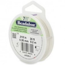Beadalon Beading Wire 7 Strand 0.38mm (.015in) - Silver Colour - 9.2m (30ft)