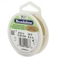 Beadalon Beading Wire 7 Strand 0.38mm (.015in) - Silver Gold - 9.2m (30ft)