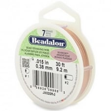 Beadalon Beading Wire 7 Strand 0.38mm (.015in) - Silver Rose - 9.2m (30ft)
