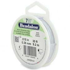Beadalon Beading Wire 7 Strand 0.38mm (.015in) - White - 9.2m (30ft)