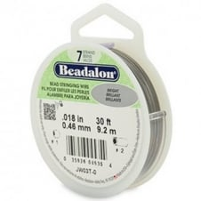 Beadalon Beading Wire 7 Strand 0.46mm (.018in) - Bright - 9.2m (30ft)