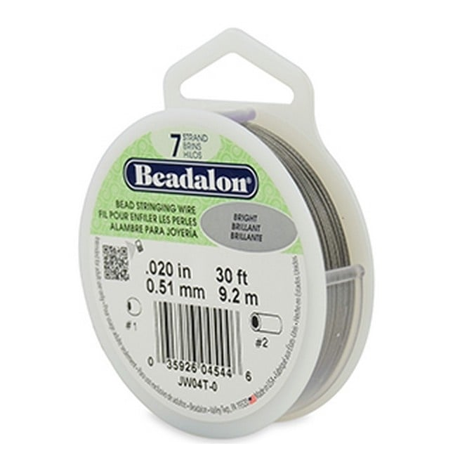 Beading Wire 7 Strand 0.51mm (.020in) - Bright - 9.2m (30ft)