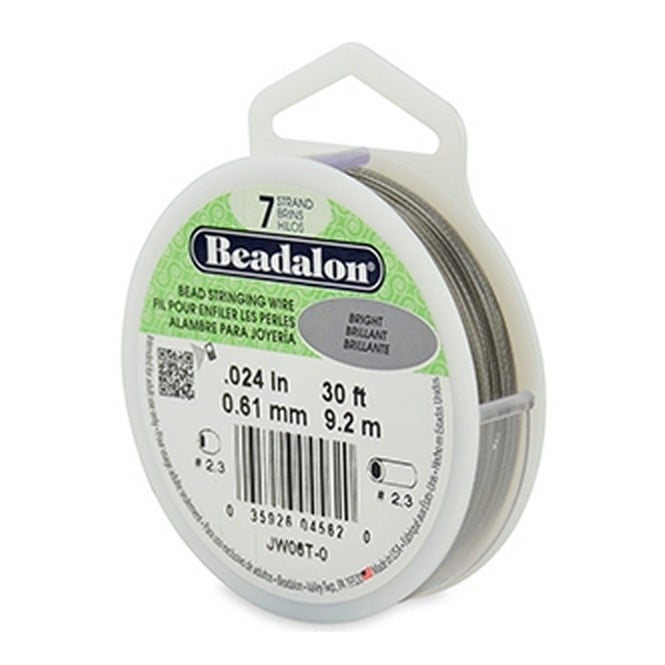 Beading Wire 7 Strand 0.61mm (.024in) - Bright - 9.2m (30ft)