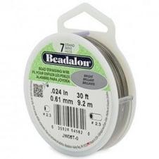 Beadalon Beading Wire 7 Strand 0.61mm (.024in) - Bright - 9.2m (30ft)