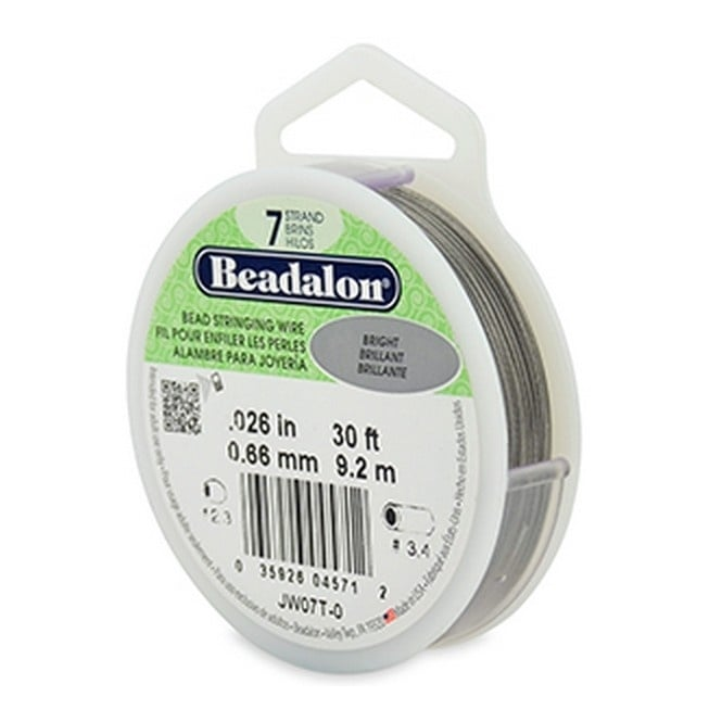 Beading Wire 7 Strand 0.66mm (.026in) - Bright - 9.2m (30ft)