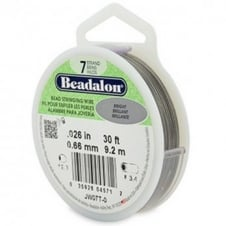 Beadalon Beading Wire 7 Strand 0.66mm (.026in) - Bright - 9.2m (30ft)
