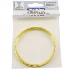 Beadalon Flat Plated Memory Wire - Gold Plated