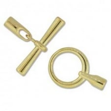 19mm Round Glue In Toggle - 3.2mm - Gold Plated - 1pk