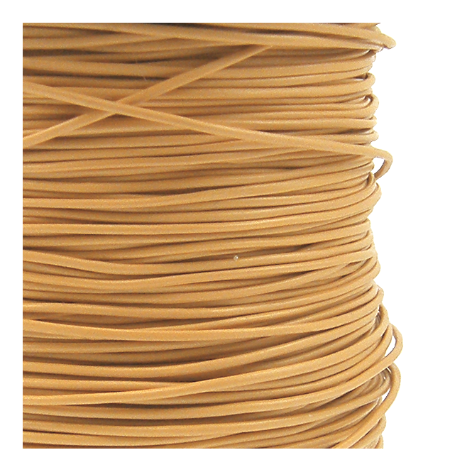 Beadsmith 1mm Pleather Round Cord - Natural - 5m