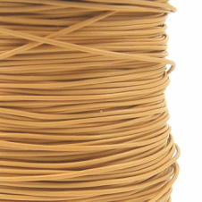 1mm Pleather Round Cord - Natural - 5m