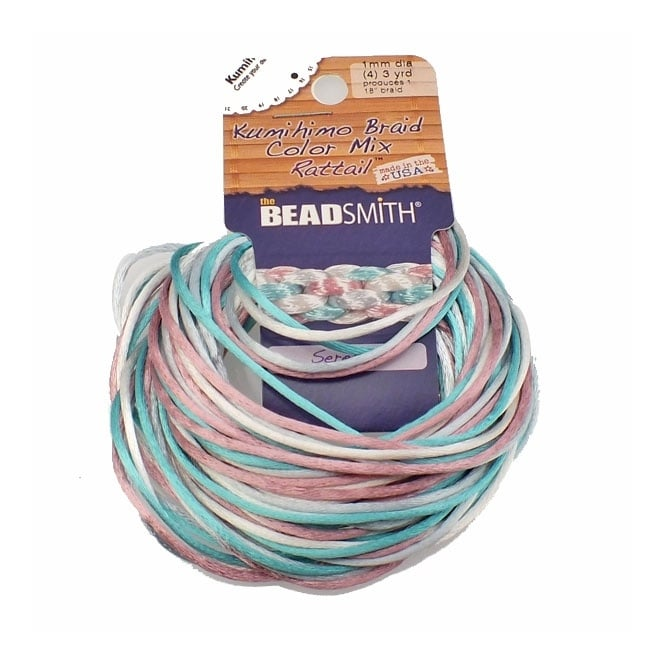 3-Yard Beadsmith Rattail 1mm 4-Color Beading Cord Lilac