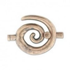 34x35mm Large Swirl Glue In Toggle - 3.2mm - Antique Copper Plated - 1pk