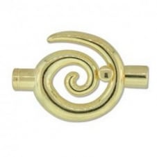 34x35mm Large Swirl Glue In Toggle - 6.2mm - Gold Plated - 1pk