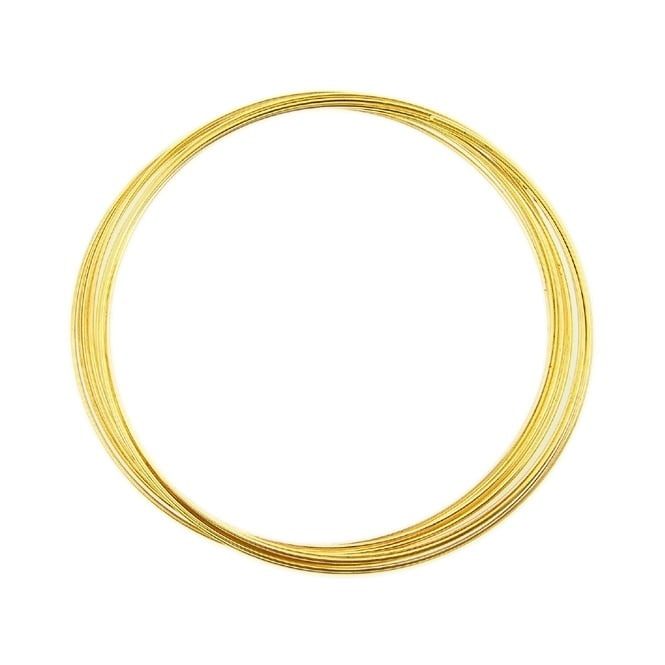 - 56mm Memory Wire Bracelet - Gold Plated (12 Loops)