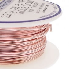 Beadsmith Craft Wire 0.6mm (22ga) Non-Tarnish - Rose Gold - 7m (8yd)