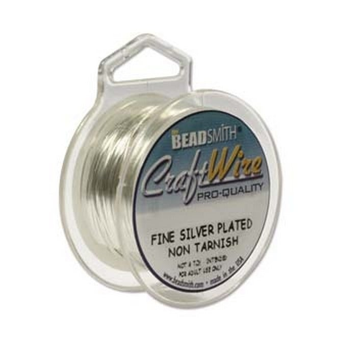 Craft Wire 0.6mm (22ga) Non-Tarnish - Silver - 7m (8yd)
