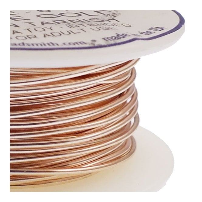 Craft Wire 0.8mm (20ga) Non-Tarnish - Rose Gold - 5.4m (6yd)