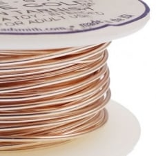 Beadsmith Craft Wire 0.8mm (20ga) Non-Tarnish - Rose Gold - 5.4m (6yd)