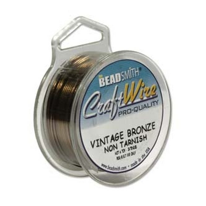 Craft Wire 1mm (18ga) Non-Tarnish - Vintage Bronze - 6m (7yd)