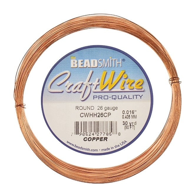 Beadsmith half hard 04mm 26ga craft wire natural copper 274m half hard 04mm 26ga craft wire natural copper 274m keyboard keysfo Gallery