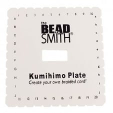 "Beadsmith Kumihimo 6"" Square Braiding Disc Plate - Plus Instructions"