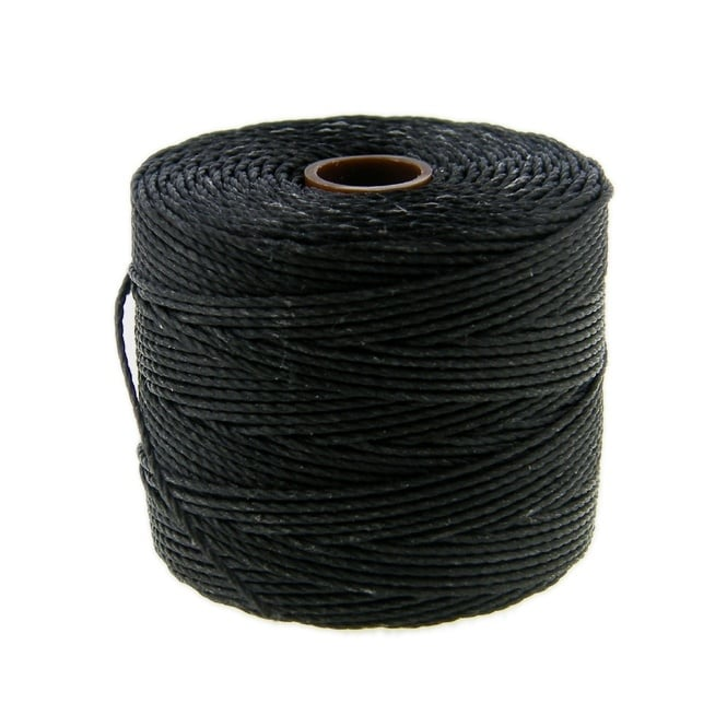 Superlon Bead Cord Tex210 (Extra Heavy #18) - Black - 70m